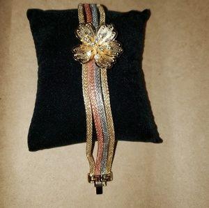 Bracelet gold silver rose